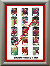 BURNLEY - 1970-71 - REPRO STICKERS A3 POSTER PRINT