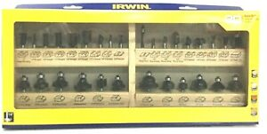 IRWIN 30 Piece Router Bit Set Carbide Tipped Tools Marples Master 1901049