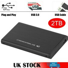"2.5"" 2TB External Hard Disk Drive USB 3.0 HDD Storage Devices For PC Laptop UK"