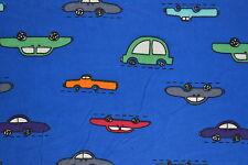 Blue Cars Flannelette Fabric 108cm Wide (per metre)