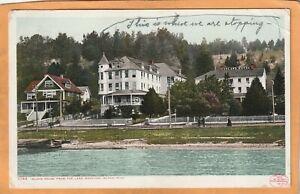 Lake Mackinac Island Mich 1908 Postcard Mailed