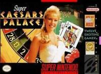Super Caesars Palace Super Nintendo Game SNES Used