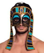 MENS LADIES EGYPTIAN PHAROAH MASK DELUXE GOLD HALLOWEEN MASQUERADE BALL EYEMASK