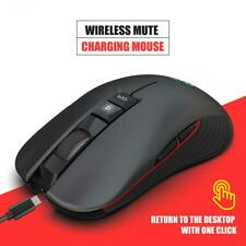 HXSJ T30 3600 DPI Wireless Gaming Mouse Rechargeable Mice for Laptop Desktop PC