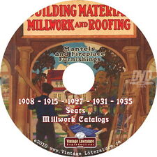 Vintage Sears Millwork ~ Building Supplies Catalog Collection on DVD