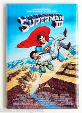 Superman 3 FRIDGE MAGNET (2 x 3 inches) movie poster christopher reeve