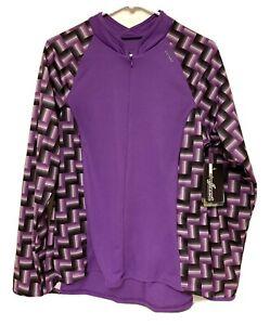SheBeest NEW Women's XL CYCLING Bike JERSEY Jacket 1/4 Zip Purple Bellissima NWT