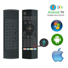 Backlit Air Mouse Gyro Voice Remote Control for VR Android Smart TV Box PS4 XBox