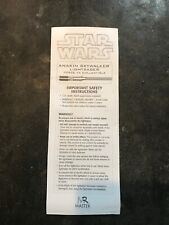 Master Replicas 2005 Anakin Skywalker Force Fx Lightsaber original instructions
