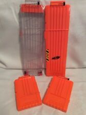 NERF Dart Ammo Cartridge Magazine Clip System Replacement Lot! Extended.... A7
