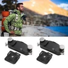 Quick Release DSLR Camera Holster Waist Belt Strap Buckle&Button Mount Clip