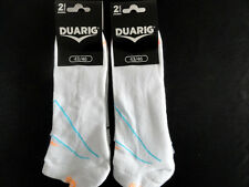 Lot 4 paires chaussettes invisibles sport  DUARIG Blanches T43/46