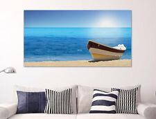 Quadro moderno Stampa su Tela Cotone cm.120x60 Mare Relax Paesaggio Arredo Casa