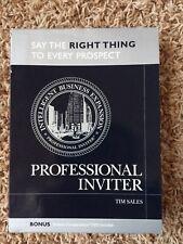 Professional Inviter Tim Sales 7 Cd Brilliant Compensation Dvd Audiobook