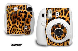 Custom Skin Sticker Wrap Decal For Fujifilm Instax Mini 8 Instant Camera LEOPARD