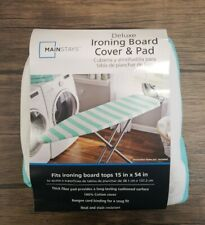 """Mainstays Deluxe Ironing Board Cover & Pad Fits Board Tops 15"""" × 54"""", New [J101]"""