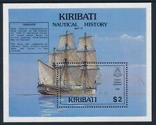 1990 KIRIBATI NAUTICAL HISTORY PART II MINI SHEET FINE MINT MNH