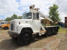 Ford N7000 S/A Utility Flatbed Crane Truck 35' Boom 7-Ton Capacity -Parts/Repair