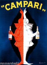 1900's Campari Wine France French Cognac Advertisement Art Poster