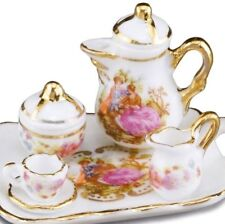 DOLLHOUSE Baroque Style  Coffee Set w Tray for 1  1.665/5 Reutter Miniature 2018