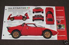 1973 1974 1975 LANCIA STRATOS Car SPEC SHEET BOOKLET PHOTO BROCHURE