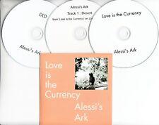 ALESSI'S ARK Love Is The Currency 2017 UK 10-tk promo test CD + 2 bonus CDs