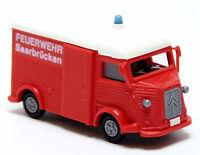 Busch Praline Citroen H HY Kasten GW VRW Feuerwehr Saarbrücken rot 1:87 H0