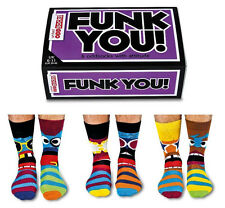 UNITED ODDSOCKS SIX MENS FUNK YOU ODD SOCKS WITH ATTITUDE UK 6 -11 GIFT IDEA