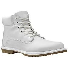 Timberland Womens Pale Grey Waterbuck Ankle BOOTS Ladies Lace up Leather Shoes UK 6