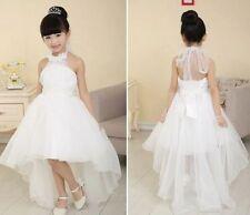 Girls Ivory Flower Bridesmaid Party Wedding Pearl Dress Kids Dresse Age 2-13year 2-3 Years