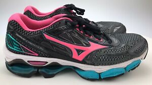 Women's 10 - Mizuno Wave Creation 19 Black Pink Blue Running Shoe J1GD170163