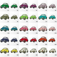 #695IR Bettle Hippy Bug Car Embroidered Sew / Iron on Motif Patch Applique Badge