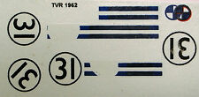decals 1/43: TVR Le Mans 1962 N°31