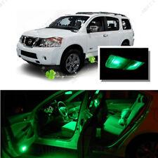 For Nissan Armada 2005+ Green LED Interior Kit + Green License Light LED