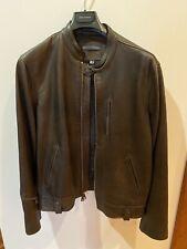 John Varvatos Brown Leather Jacket