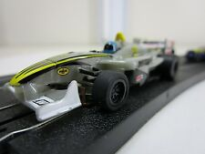 AFX HO Mega G+ MG+ F1 Race Slot Car Formula One Racing WISECO #2 Silver/Yellow