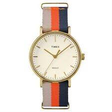 Timex TW2P91600 Fairfield Weekender Striped Fabric Watch Indiglo