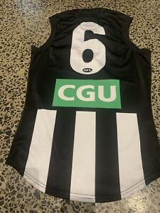 Official AFL ISC COLLINGWOOD MAGPIES PLAYER ISSUE JUMPER GUERNSEY Premiers