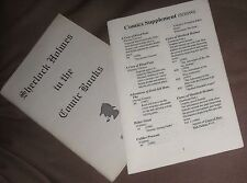 Fanzine SHERLOCK HOLMES in the COMIC BOOKS Charlotte Erickson 1989 VF+