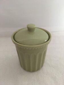 Cotton Holder  Ceramic Cotton Ball  Holder  Green