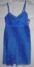 NWT Body Wrappers Dance Tutu Dress Skirted Camisole Leotard Royal Ladies M T6217