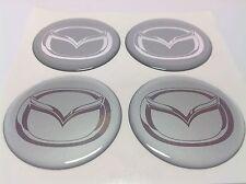 MAZDA Autocollant Sticker Centre de Roue Cache Moyeu Jante Silicone 4 x 60mm