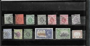 HONG KONG 1903-1941. ROYALTY. SELECTION OF 13.  FINE USED. AS PER SCAN