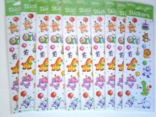 10 pack One Year Old Birthday Party One Sheet Stickers Favors Scrapbooking