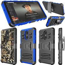 For LG Stylo 4/5 Phone Case Swivel Belt Clip Holster Kickstand Camo Hybrid Cover