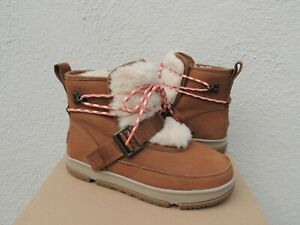 UGG CLASSIC WEATHER HIKER WP LEATHER/ WOOL WINTER BOOTS, WOMEN US 7/ EUR 38 ~NEW