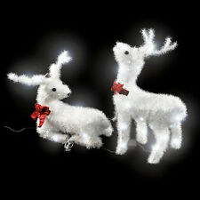 Illumination de Noël 2x renne extérieur illuminé avec lumières décoration