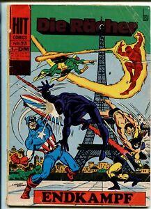 AVENGERS- DIE RACHER-#213- GERMAN EDITION-CAPT AMERICA-EIFFEL TOWER-good