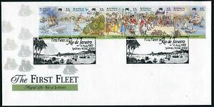 Australia 1027 ae FDC. First Fleet at Rio de Janeiro.Sailing ship,Whale.