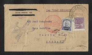 ZEPPELIN BRAZIL TO GERMANY AIR MAIL COVER 1933